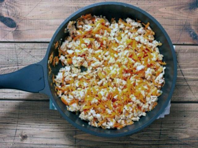 Макароны с куриным фаршем - рецепт с томатной пастой