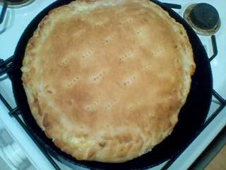 Сырный пирог из слоёного теста - пошаговый рецепт
