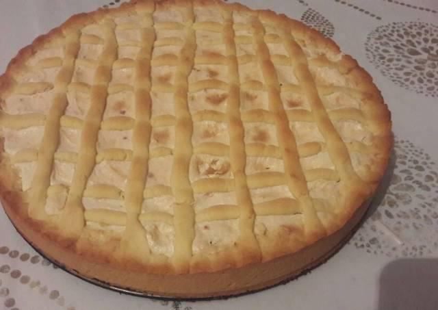 Сырный пирог с узорами