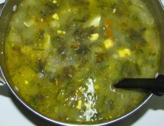 Добавляем в суп щавель