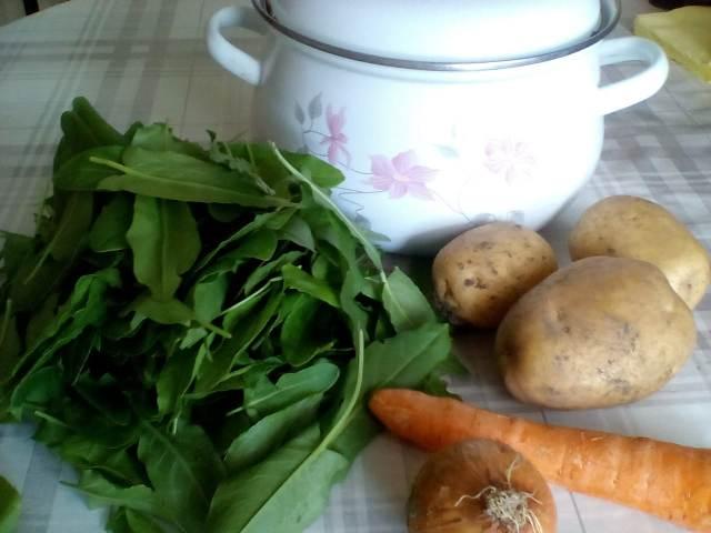 Ингредиенты для супа из щавеля