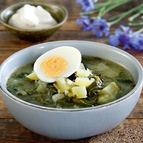 Суп с щавелем