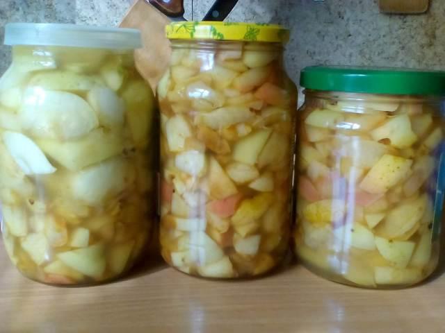 Яблоки на зиму в сиропе