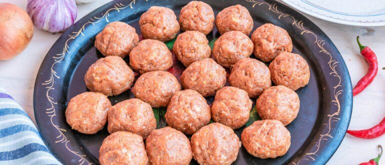 Фрикадельки из мяса говядины