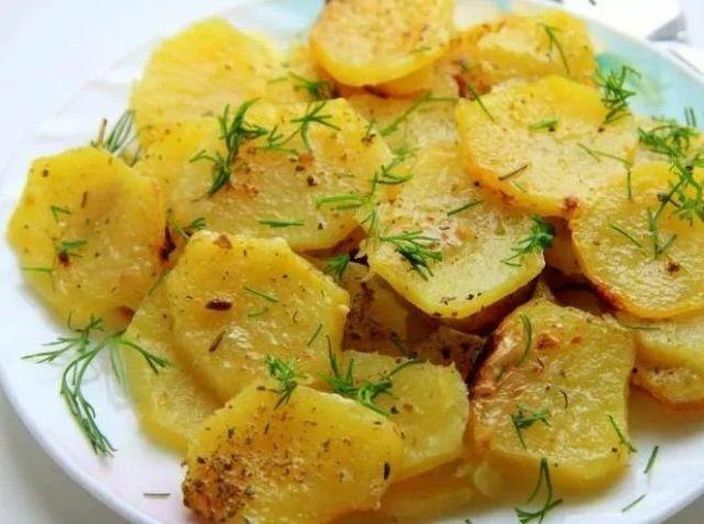 Картошка кружочками запеченная в духовке