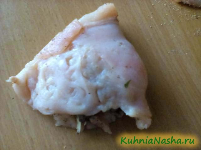 Куриная грудка с начинкой
