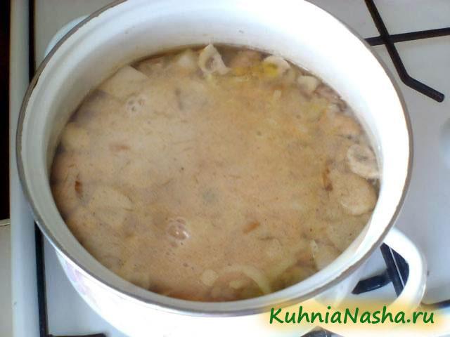 Плавленные сырки в супе