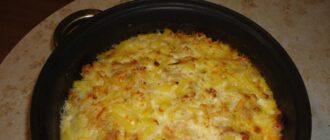 Запеканка из цветной капусты с фаршем и сыром