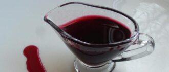Кисло-сладкий соус из ягод с вином